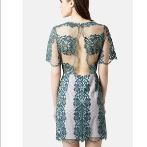 TopShop Lace Sheath Dress, Size 10